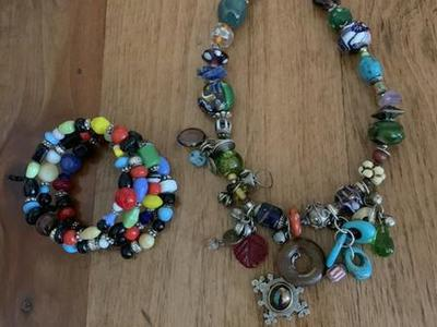 Multi Colored Jewelry Set