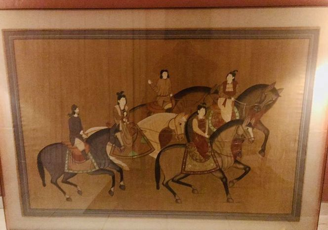 LARGE VINTAGE ORIENTAL PAINTING ZHANG XUAN for sale in Orem , UT