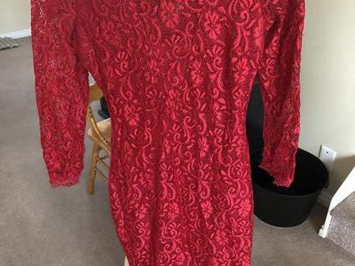 👠👗 Candies Red Lace Dress Size XS