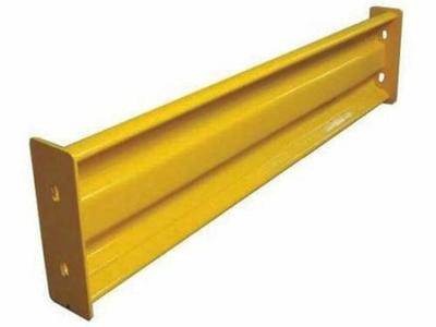 Steel Guard Rail,L 44 Inch,Bolt-On Safety Yellow