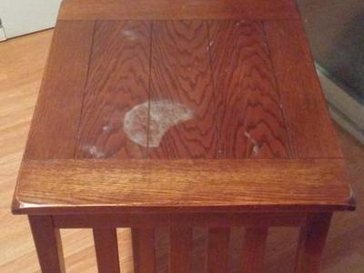 Solid wood end table or nightstand