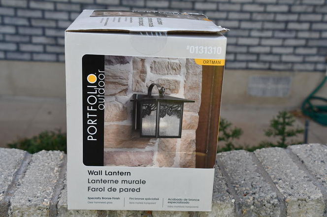Portfolio Outdoor Wall Lantern - Bronze - NEW, SEALED for sale in Plain City , UT