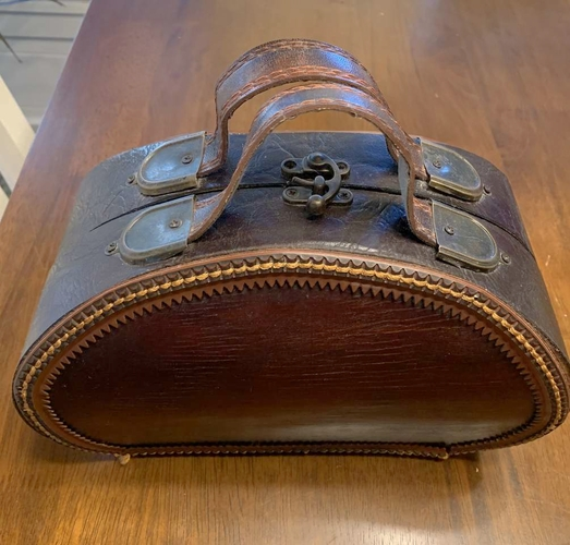 Vintage leather and wood purse for sale in Salt Lake City , UT