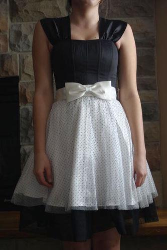 Black & White Polka Dot Short Formal for sale in Payson , UT