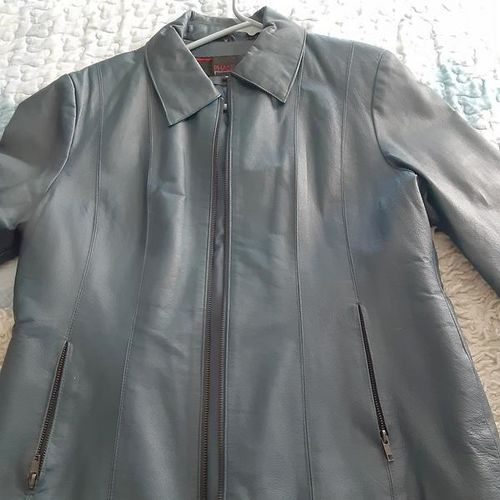 Blue leather jacket  for sale in West Valley City , UT