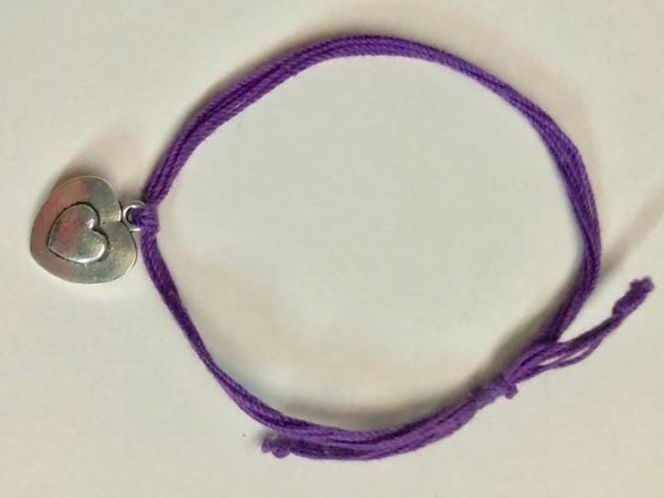 Purple bracelet with a heart charm! for sale in Sandy , UT