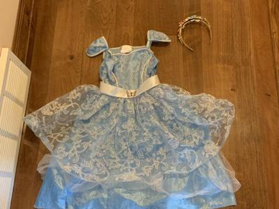 Live Action Cinderella Costume With Crown Size 3+