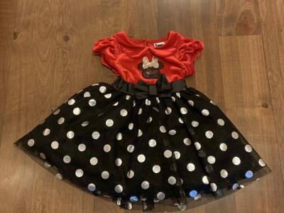 Disney Minnie Mouse Dress Size 2T Costume Polka D