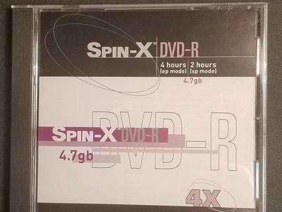 18 Spin-X DVD-R 4X in nice cases