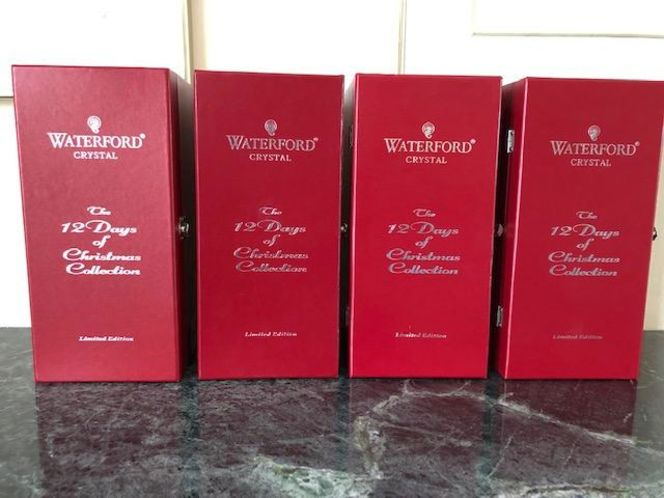4 Waterford Crystal Christmas Flutes -Days 1-4 for sale in Salt Lake City , UT