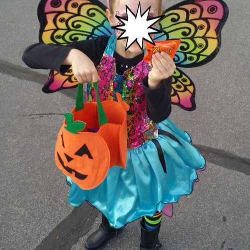 Halloween Rainbow Butterfly girls size L for sale in Roy , UT