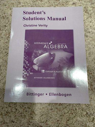 Algebra Solutions Manual OBO for sale in West Jordan , UT
