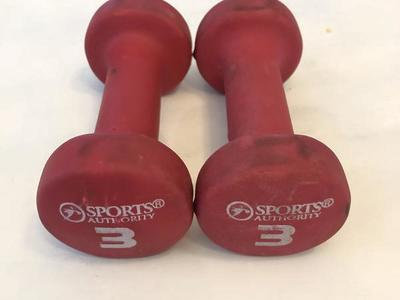 Pair of 3lb Dumbbells