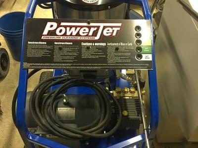 New power jet 220 V heated pressure washer