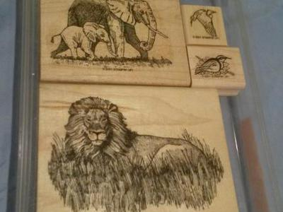 Stampin' Up Stamp Set- Serengeti -Year 2001