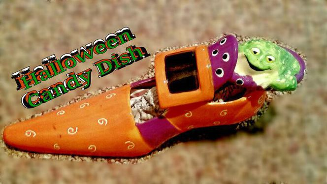HALLOWEEN-Witches Shoe Candy Dish for sale in Syracuse , UT