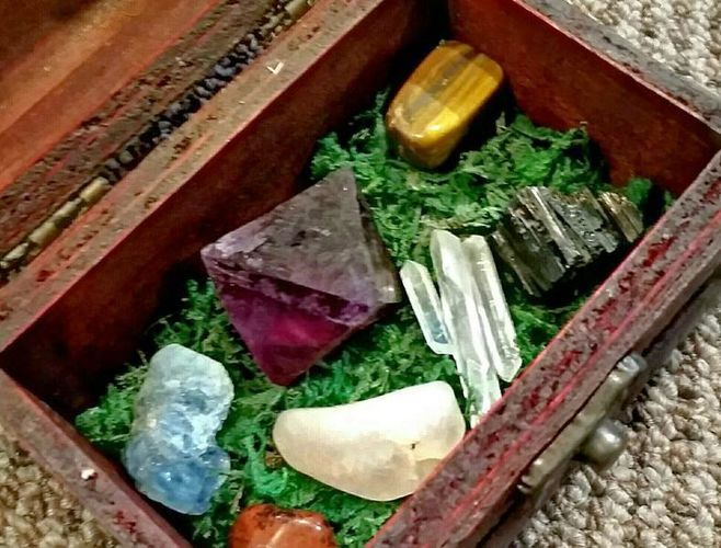 Inspired Trinket Treasure Box + Stones for sale in Syracuse , UT