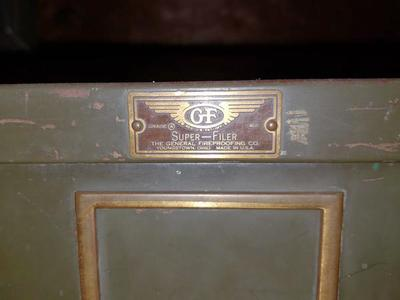 Vintage General Fireproofing Super-Filer cabinet
