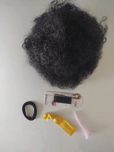 Black Curly Wig with Accessories for sale in Clearfield , UT