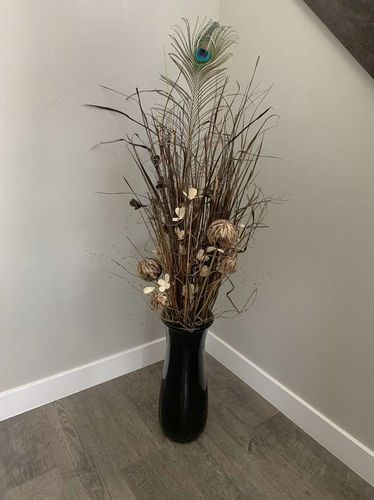 Black Vase With Brown And Cream Filler for sale in Lehi , UT