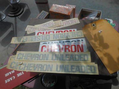 NOS New vintage gas pump decals