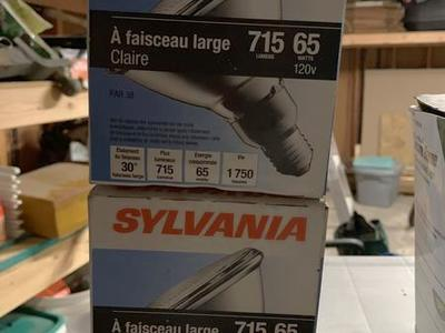 2 sylvania 715 lumens 65 watt bulbs