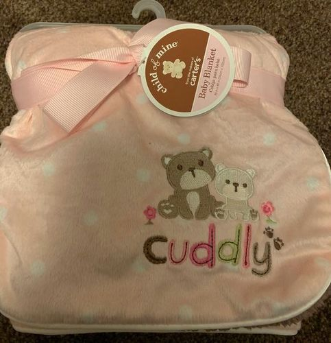 Pink and brown baby blanket for sale in Stockton , UT