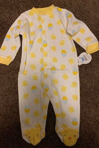 Yellow duck longsleeve onesie size 3 to 6 months for sale in Stockton , UT