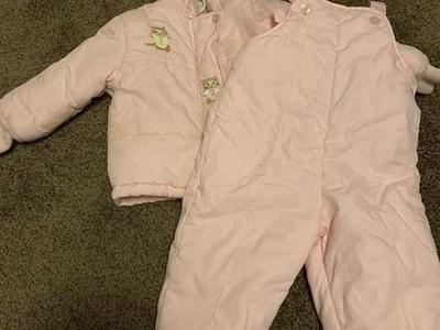 girls pink winter coat suit