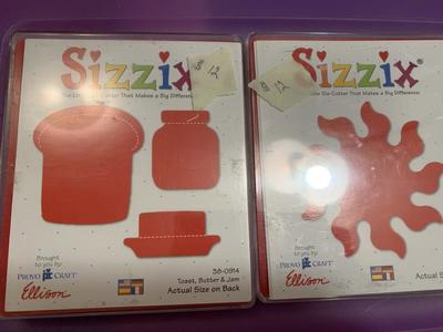 Large red sizzix die cut