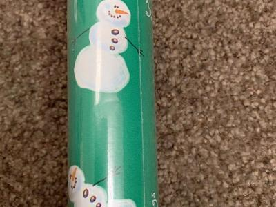 Christmas wrapping paper snowman.