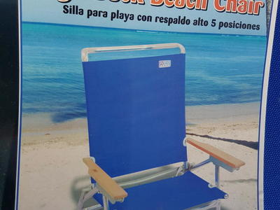 BEACH FISHING CHAIR BY RIO BRAND NEW PAID 75.00