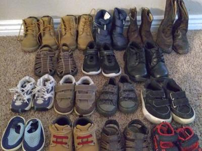 Various boys shoes