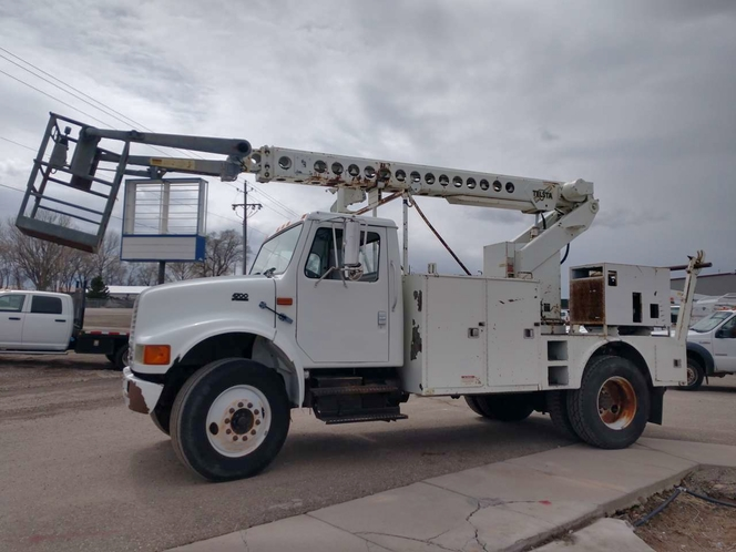 2000 INT'L 4700 47' Cable Placing Bucket Truck for sale in Filer , ID