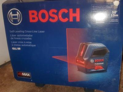 BOSCH (50 FT) SELF-LEVELING CROSS LINE LEVEL