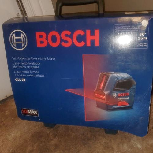 BOSCH (50 FT) SELF-LEVELING CROSS LINE LEVEL  for sale in salt lake , UT