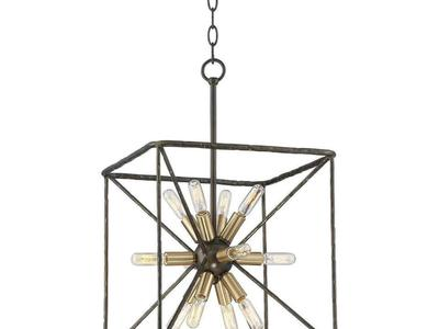 "GANTZ 15"" 12 LIGHTS BRONZE PENDANT"