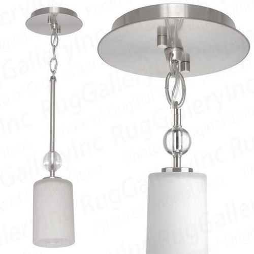 NEW BRUSHED NICKEL GLASS PENDANT LIGHT for sale in North Ogden , UT