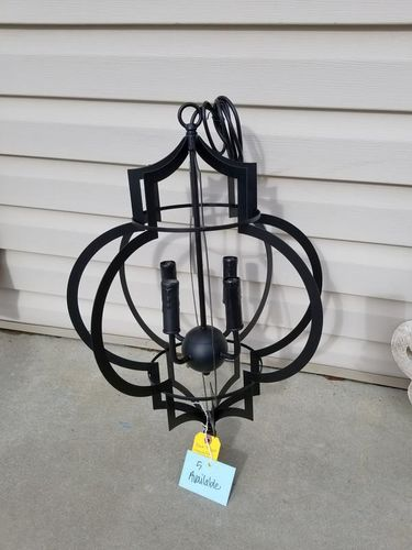 NEW BLACK 4 LIGHT AZIZA METAL CHANDELIER for sale in North Ogden , UT