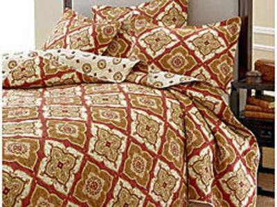 NEW BRIGHTON AUTUMN TWIN 3 PIECE QUILT SET