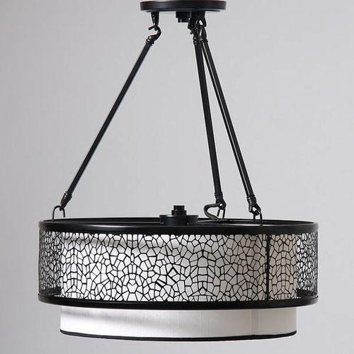 NEW BLACK DOUBLE BARREL 3 LIGHT CHANDELIER for sale in North Ogden , UT