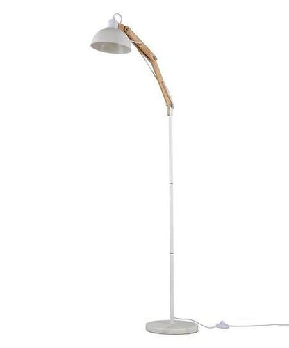 NEW WHITE WOODEN FLOOR LAMP (2 AVAILABLE) for sale in North Ogden , UT