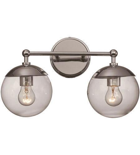 NEW 2 LIGHT CHROME GLASS VANITY LIGHT for sale in North Ogden , UT