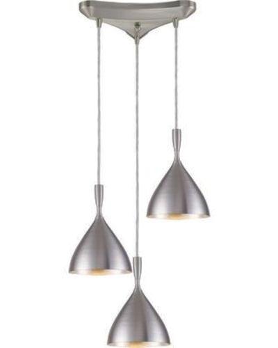 NEW ELK LIGHTING SPUN ALUMINUM 3 LIGHT CHANDELIER for sale in North Ogden , UT