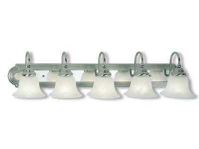 NEW LIVEX BELMONT 5 LIGHT VANITY LIGHT