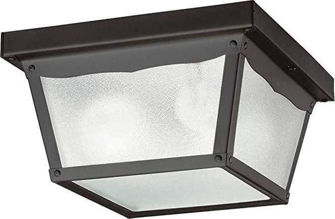 NEW 2 LIGHT BLACK OUTDOOR FLUSHMOUNT for sale in North Ogden , UT