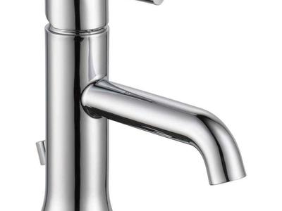 NEW CHROME TRISIC SINGLE HOLE BATHROOM FAUCET