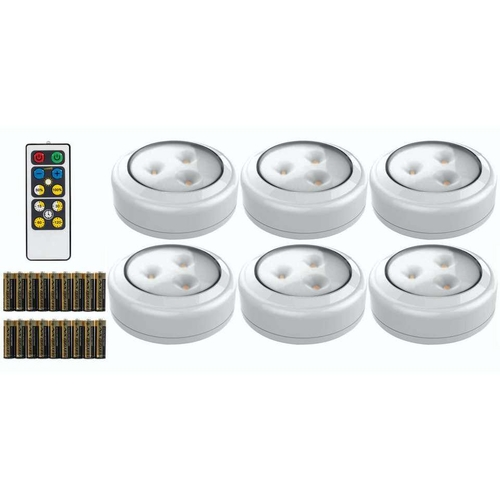 NEW LED 6 PACK WHITE PUCK LIGHT WITH REMOTE for sale in North Ogden , UT