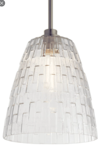 NEW BRUSHED NICKEL LARGE CLEAR GLASS PENDANT for sale in North Ogden , UT