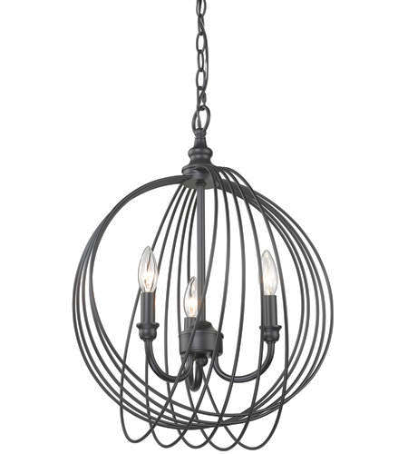 NEW BLACK 3  LIGHT WIRE ORB CHANDELIER for sale in North Ogden , UT